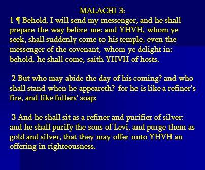 MALACHI 3: