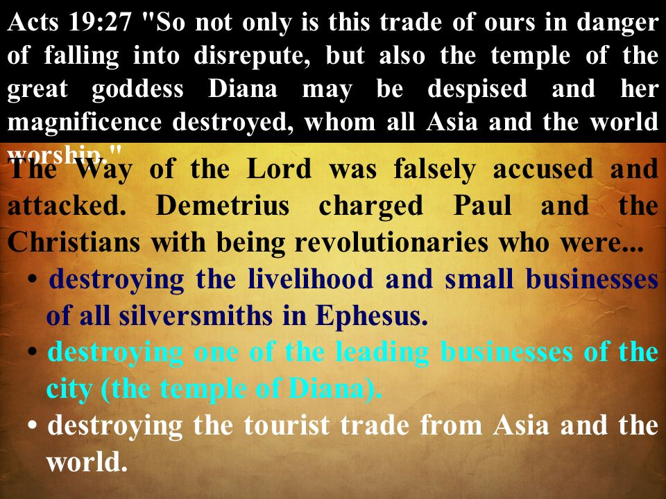• destroying the tourist trade from Asia and the world.