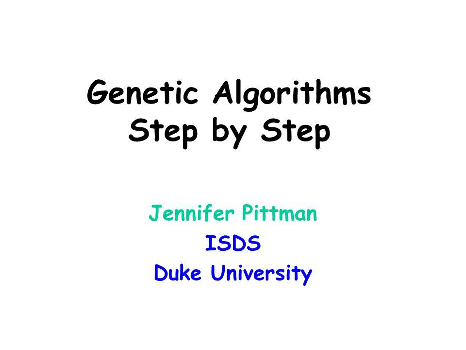 Genetic Algorithms Step by Step