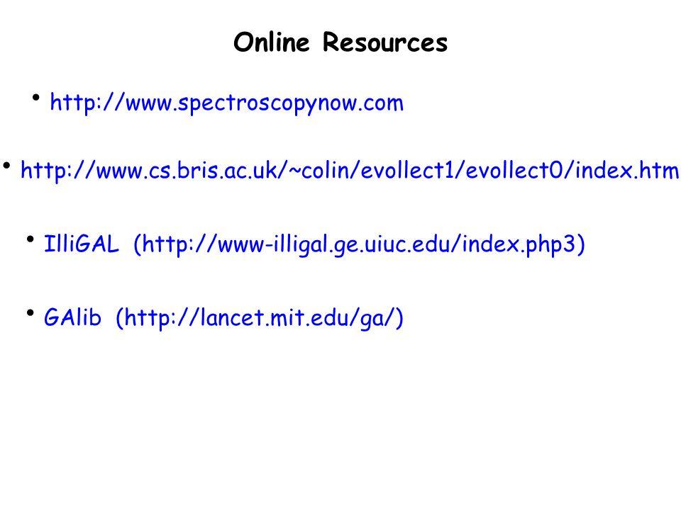 Online Resources http://www.spectroscopynow.com