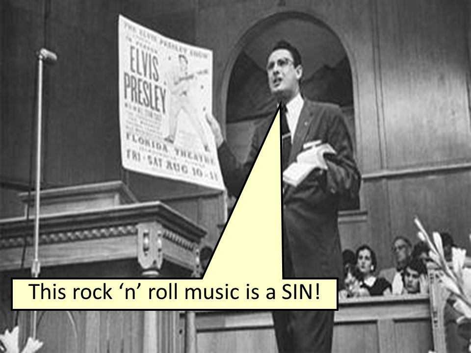 This rock 'n' roll music is a SIN!