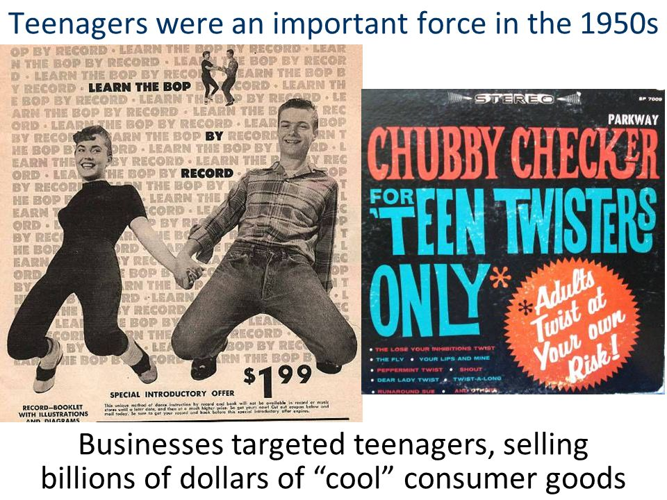 Teenagers were an important force in the 1950s