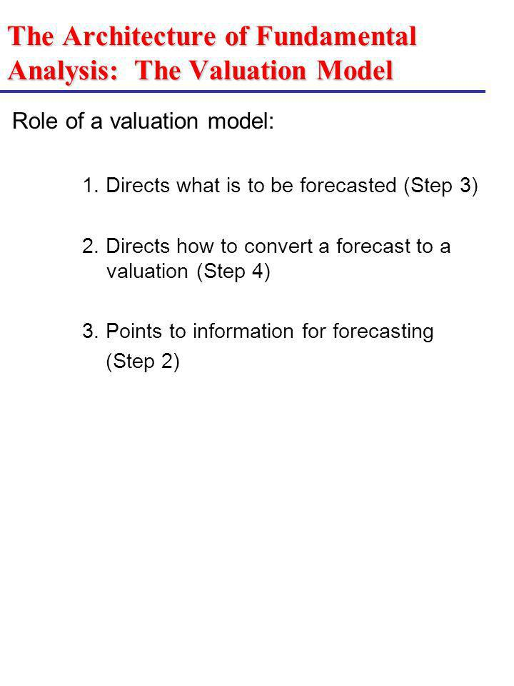 The Architecture of Fundamental Analysis: The Valuation Model