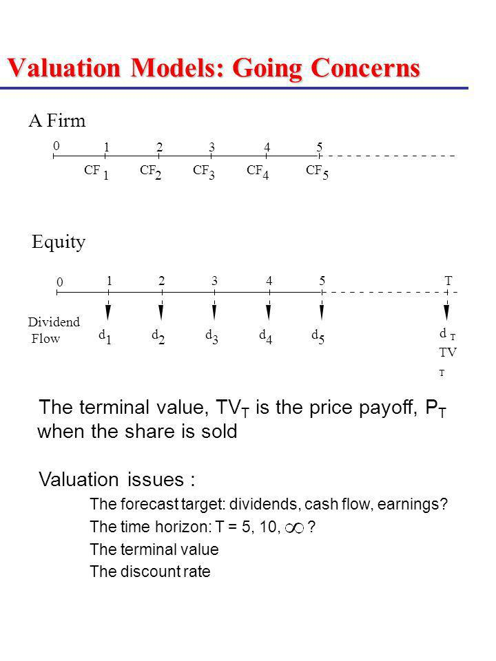 Valuation Models: Going Concerns
