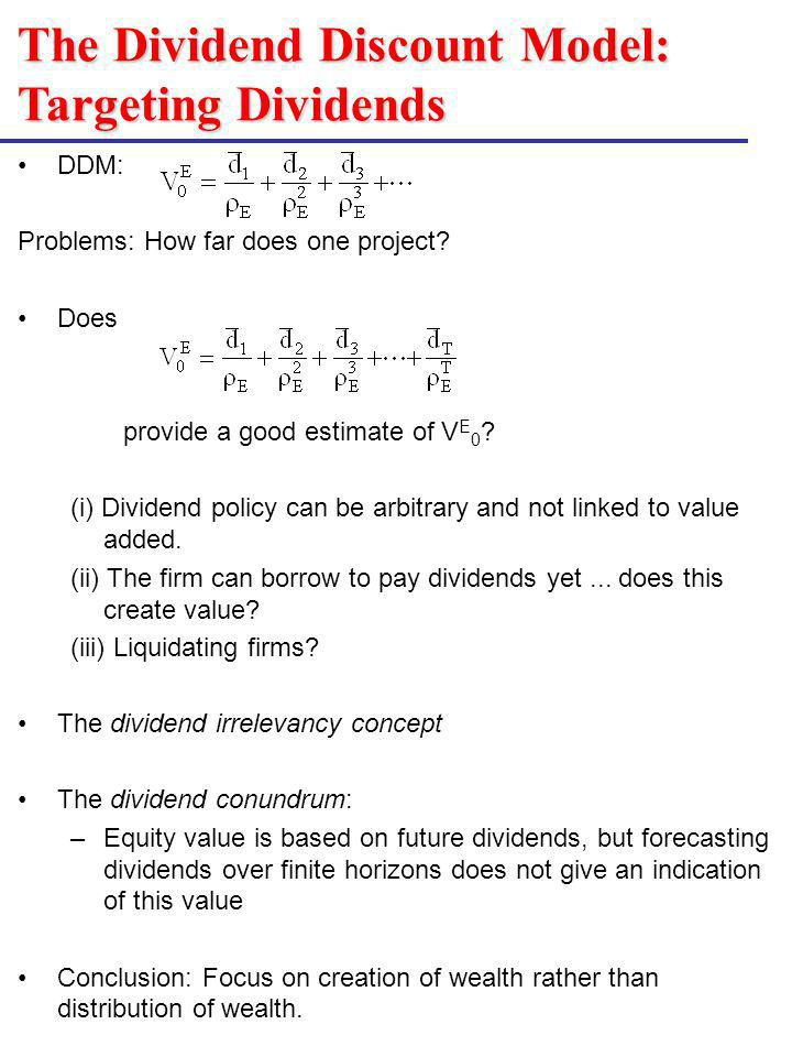 The Dividend Discount Model: Targeting Dividends