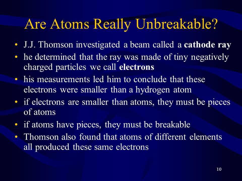 Are Atoms Really Unbreakable