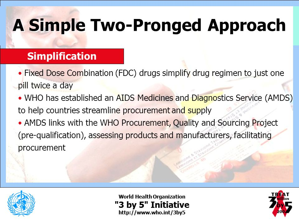 A Simple Two-Pronged Approach World Health Organization
