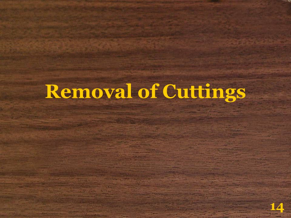 Removal of Cuttings 14