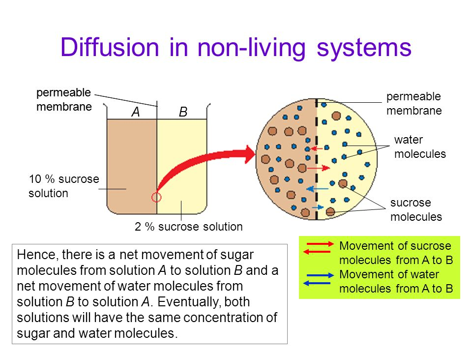 Diffusion in non-living systems