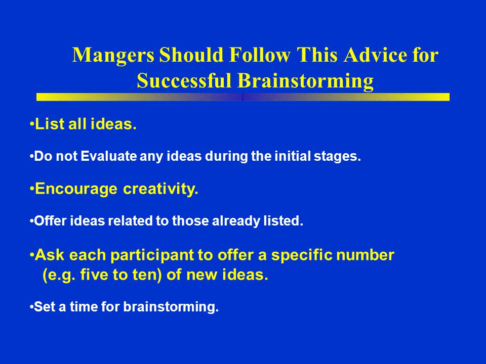 Mangers Should Follow This Advice for Successful Brainstorming