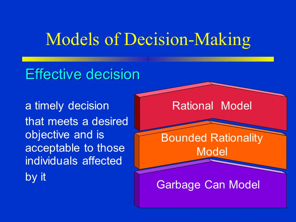 Models of Decision-Making