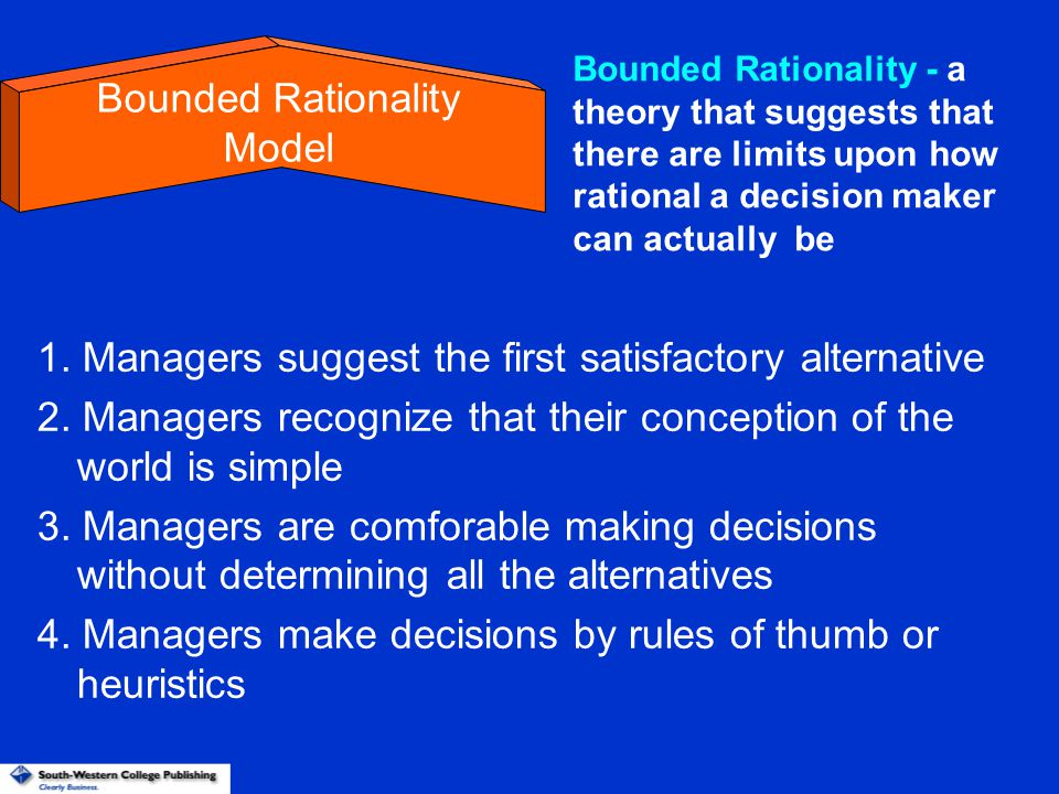 Bounded Rationality Model