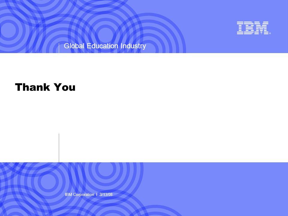 Thank You IBM Corporation I 3/13/08