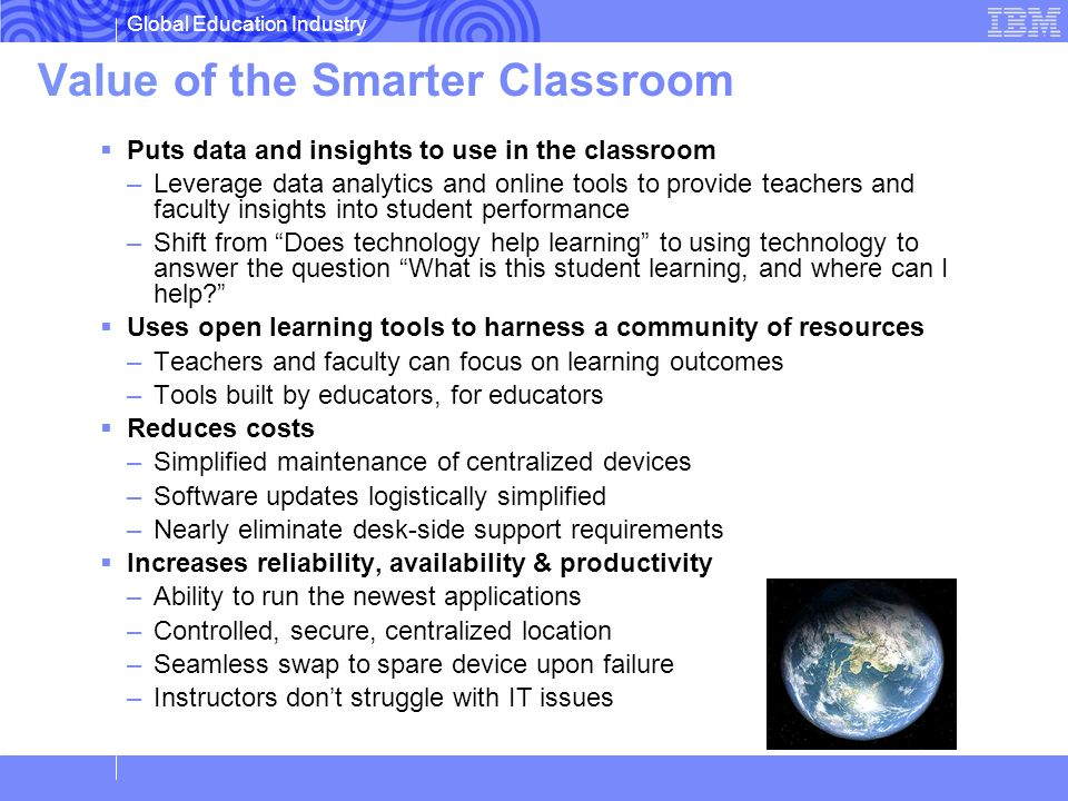 Value of the Smarter Classroom