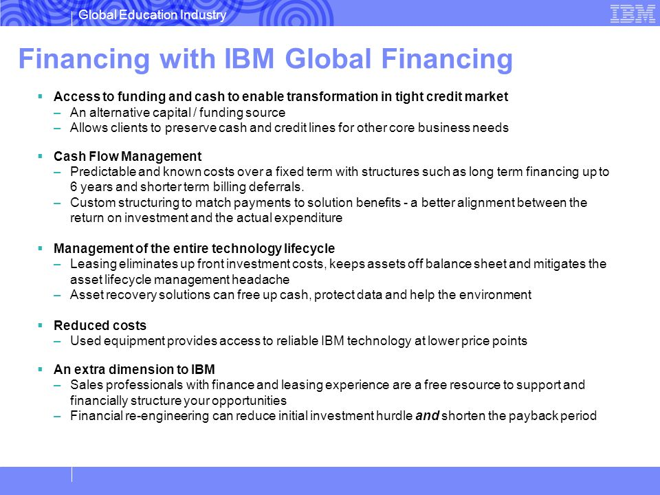 Financing with IBM Global Financing
