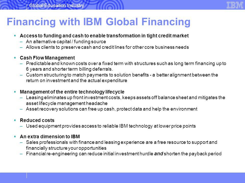 Financing with IBM Global Financing