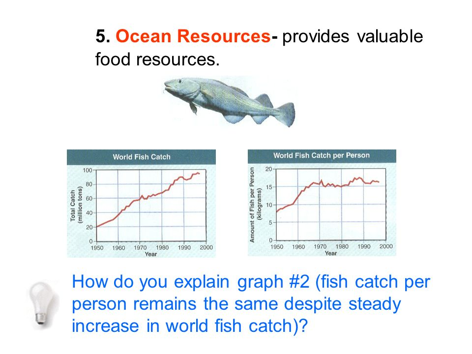 5. Ocean Resources- provides valuable food resources.