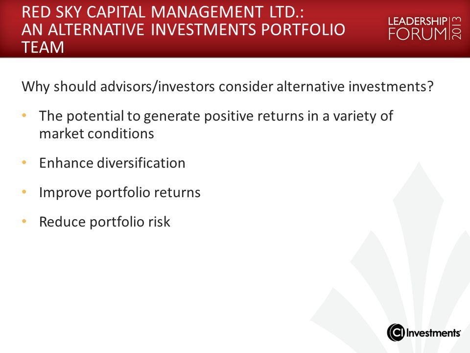 RED SKY CAPITAL MANAGEMENT LTD
