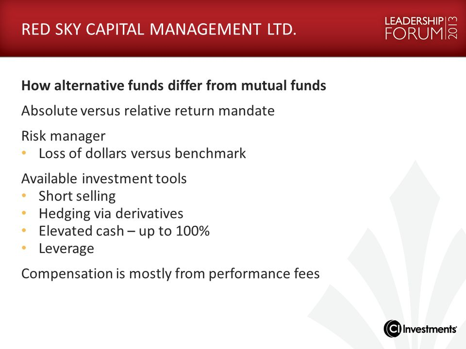 RED SKY CAPITAL MANAGEMENT LTD.