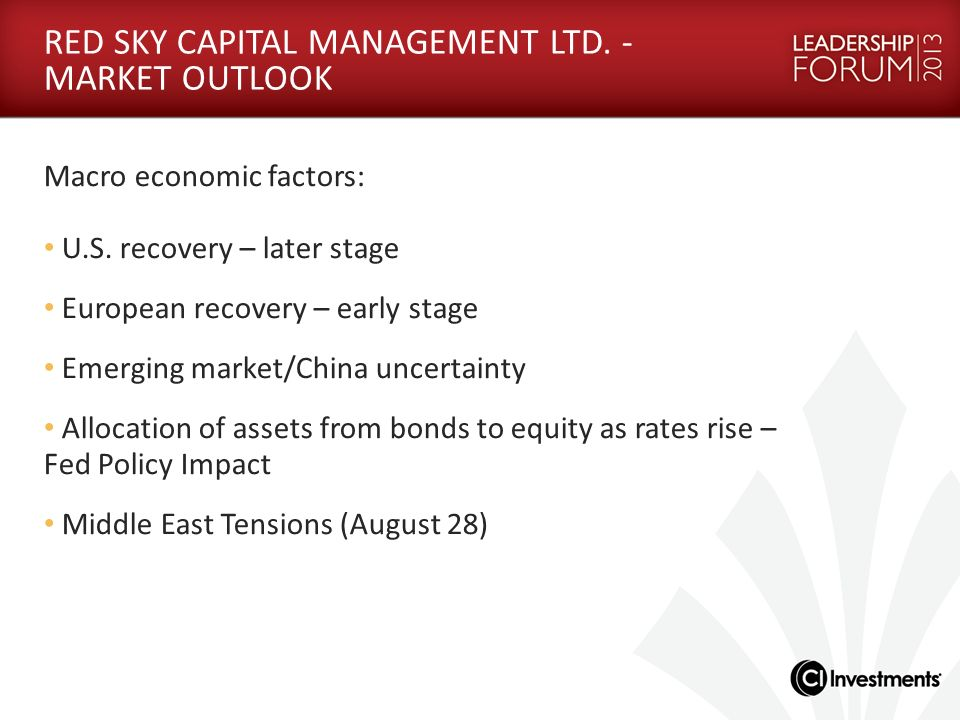 RED SKY CAPITAL MANAGEMENT LTD. - MARKET OUTLOOK