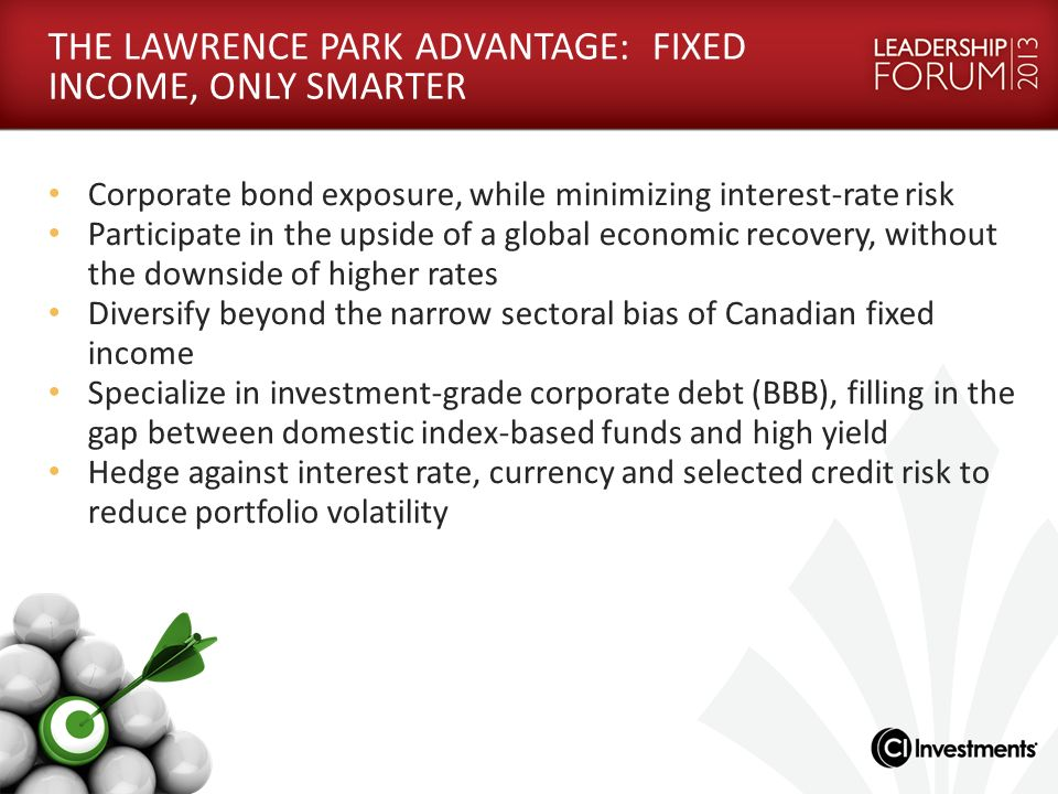 THE LAWRENCE PARK ADVANTAGE: FIXED INCOME, ONLY SMARTER