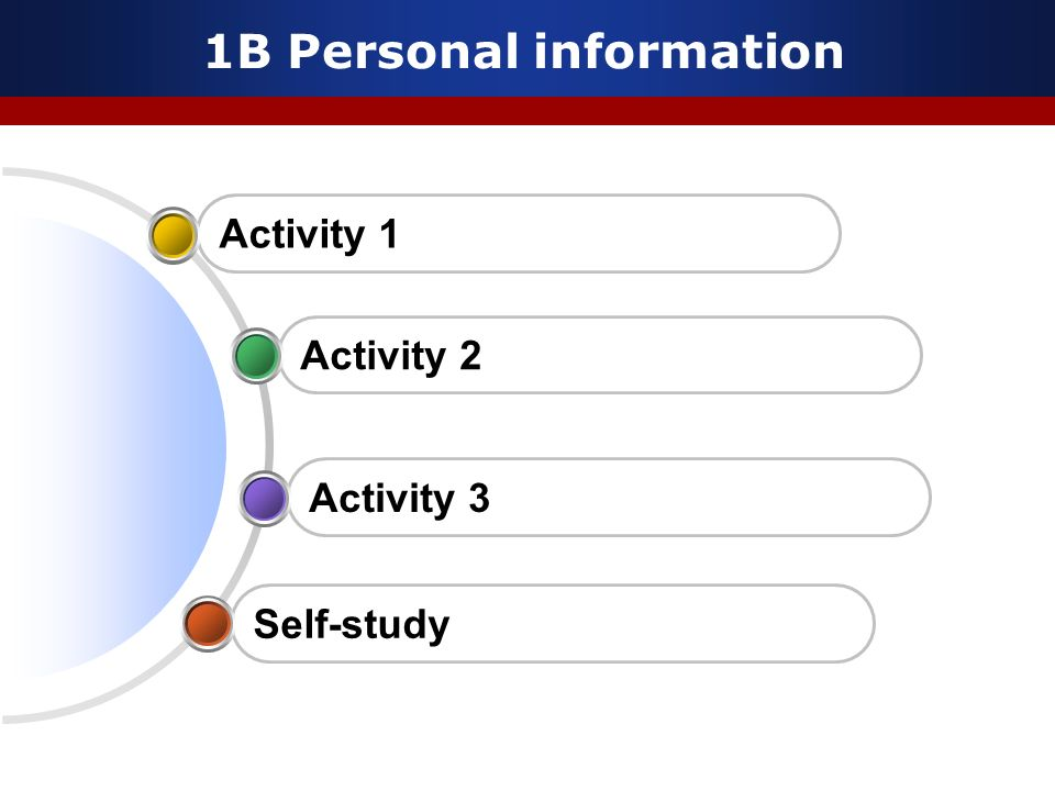 1B Personal information
