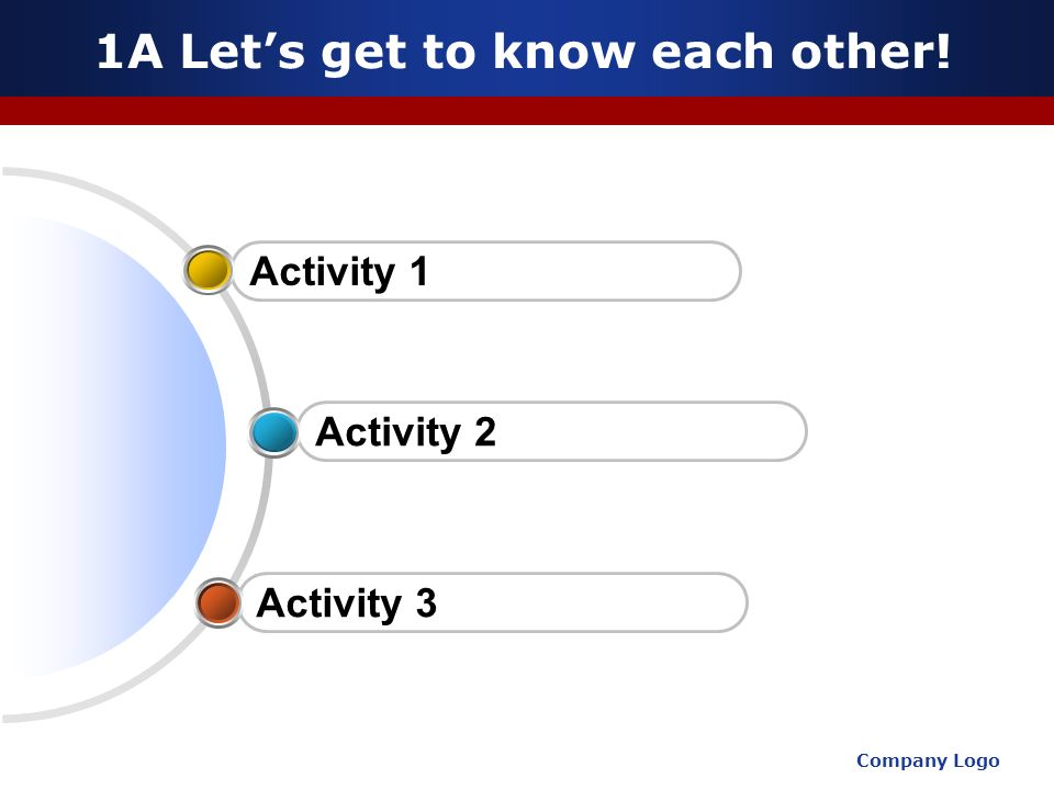 1A Let's get to know each other!