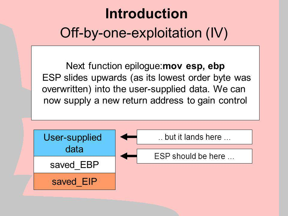 Off-by-one-exploitation (IV)