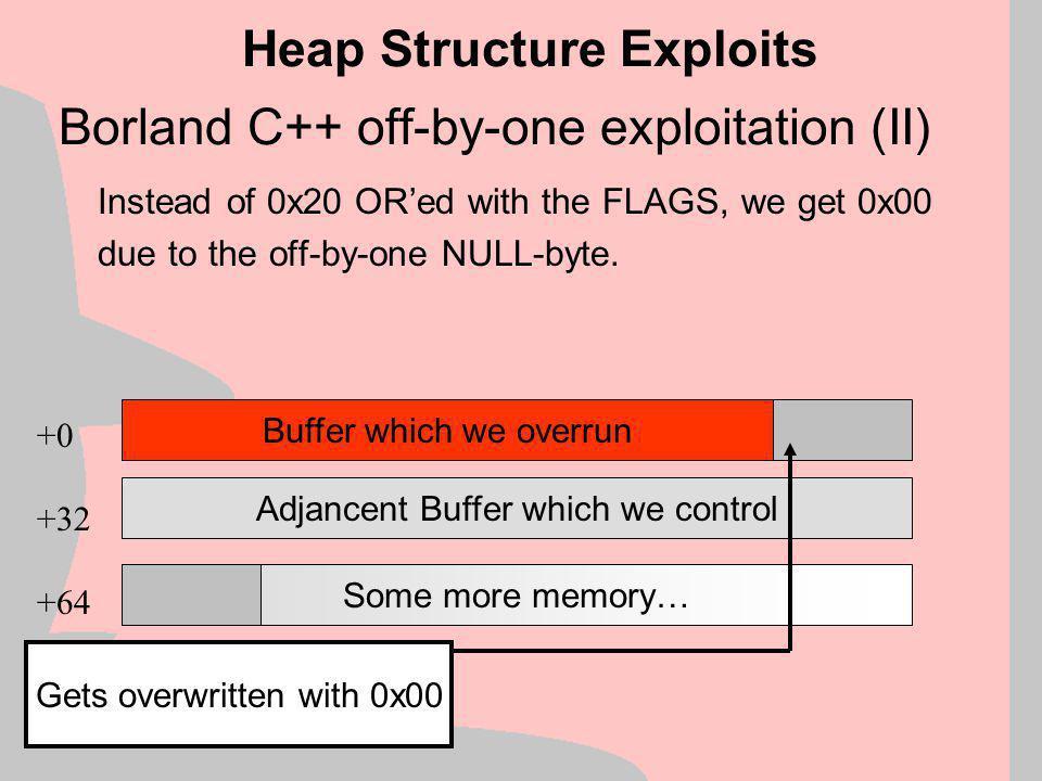 Borland C++ off-by-one exploitation (II)