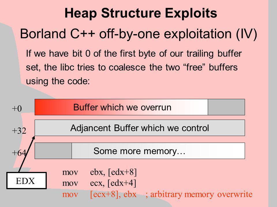 Borland C++ off-by-one exploitation (IV)