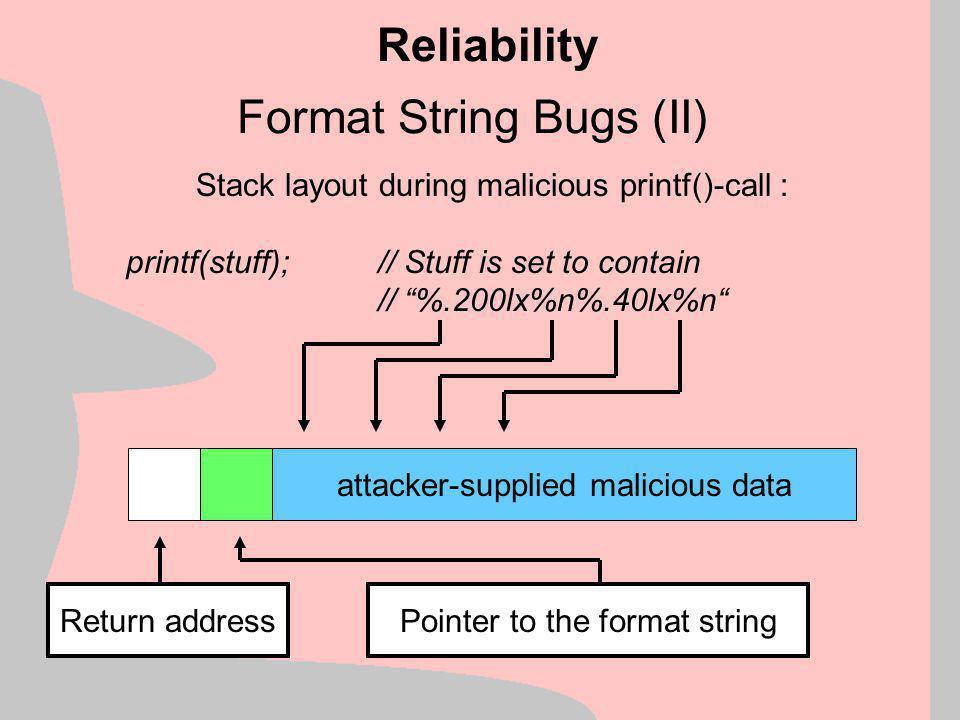 Format String Bugs (II)