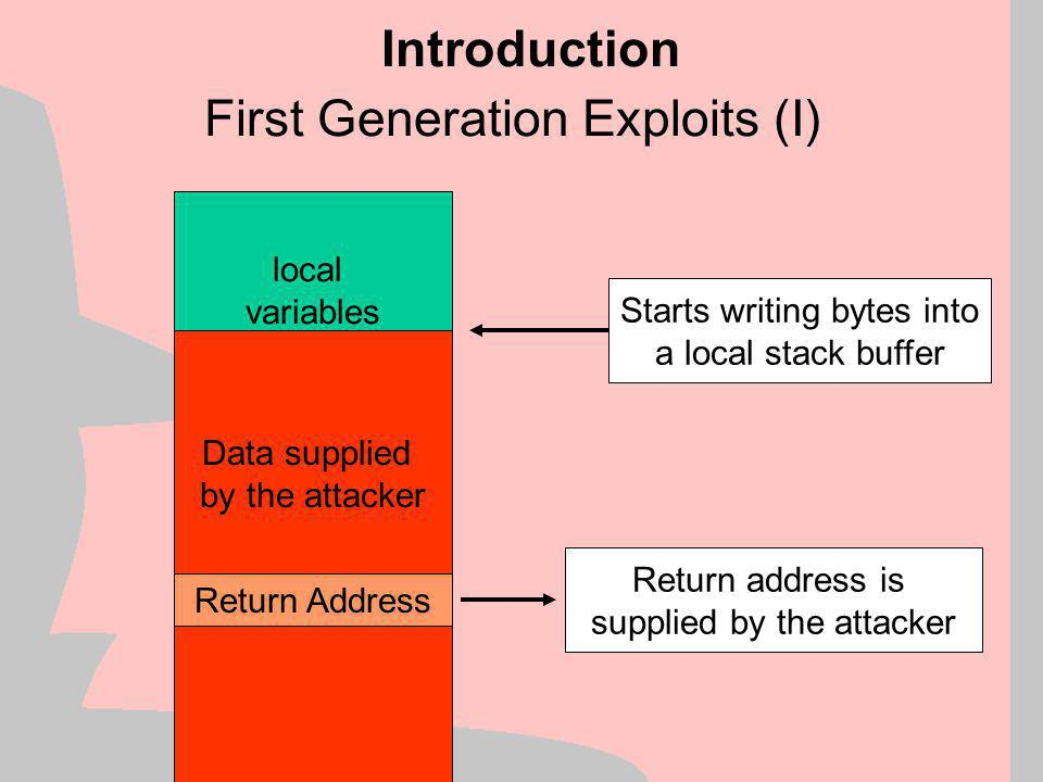 First Generation Exploits (I)