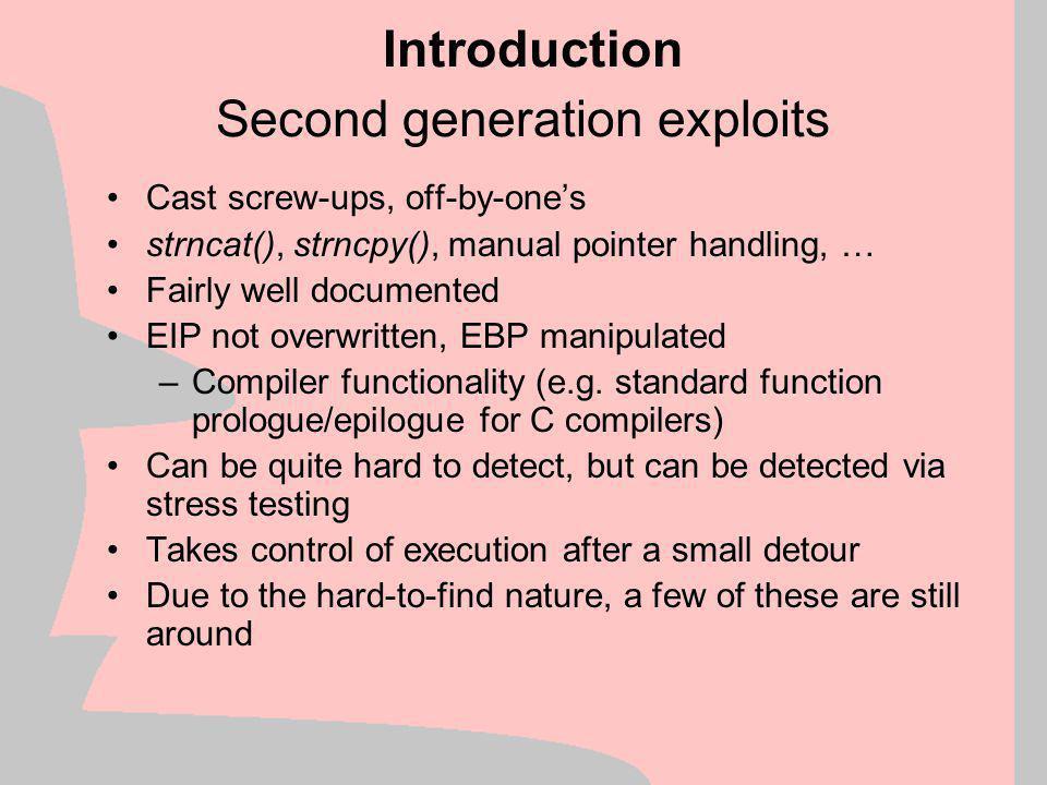 Second generation exploits