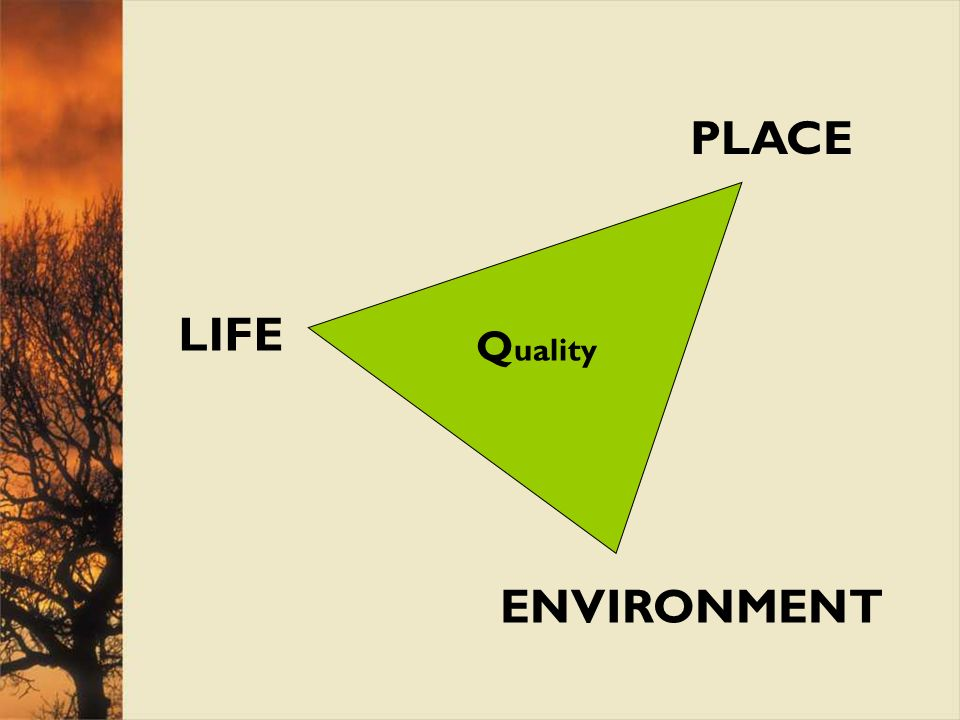 PLACE LIFE ENVIRONMENT