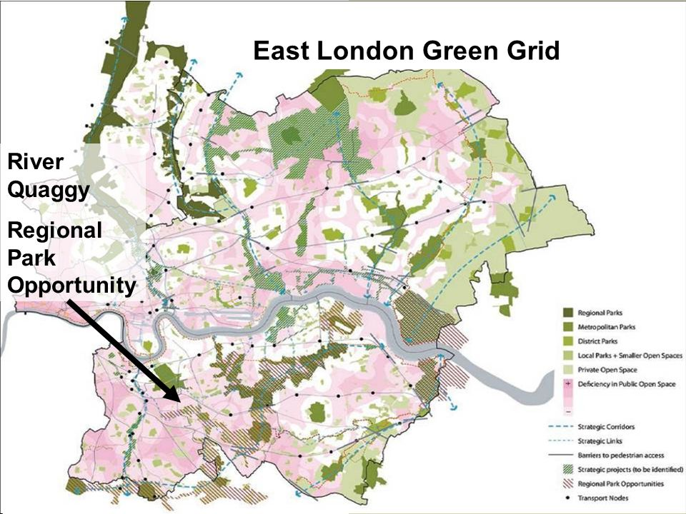East London Green Grid River Quaggy Regional Park Opportunity