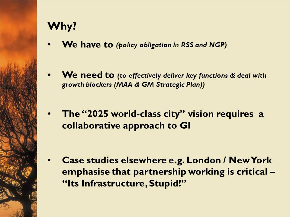 Why We have to (policy obligation in RSS and NGP)