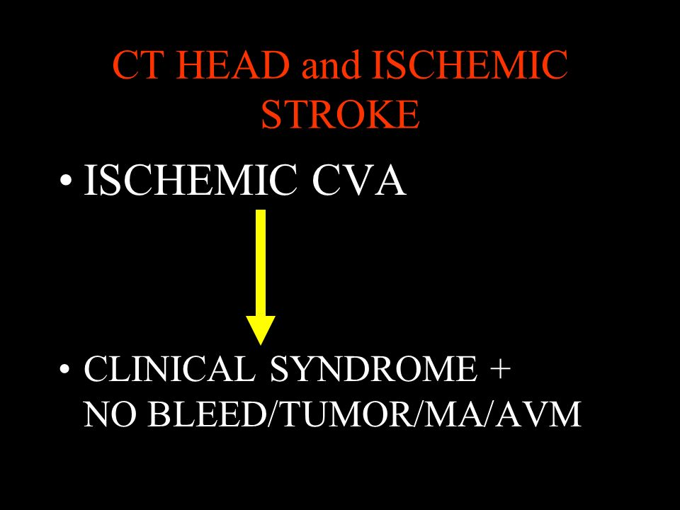 CT HEAD and ISCHEMIC STROKE
