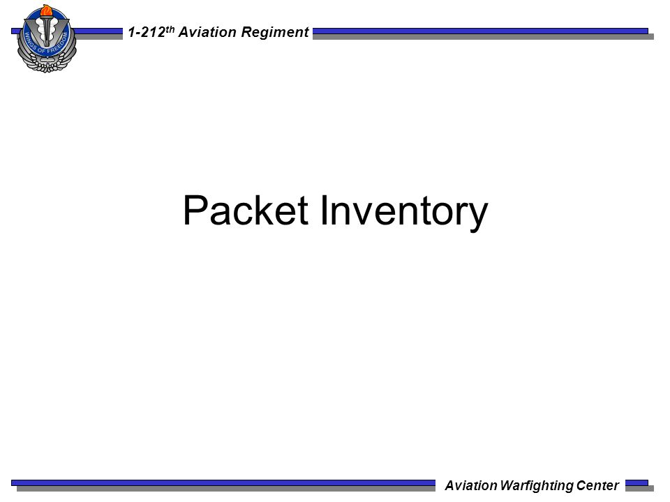 Packet Inventory