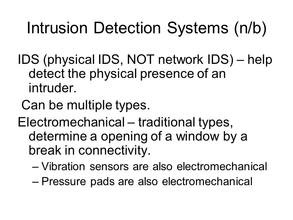 Intrusion Detection Systems (n/b)