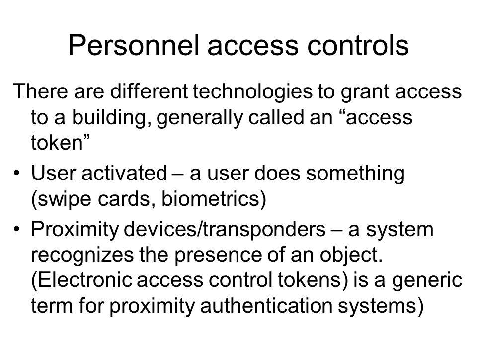 Personnel access controls