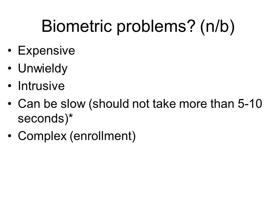 Biometric problems (n/b)