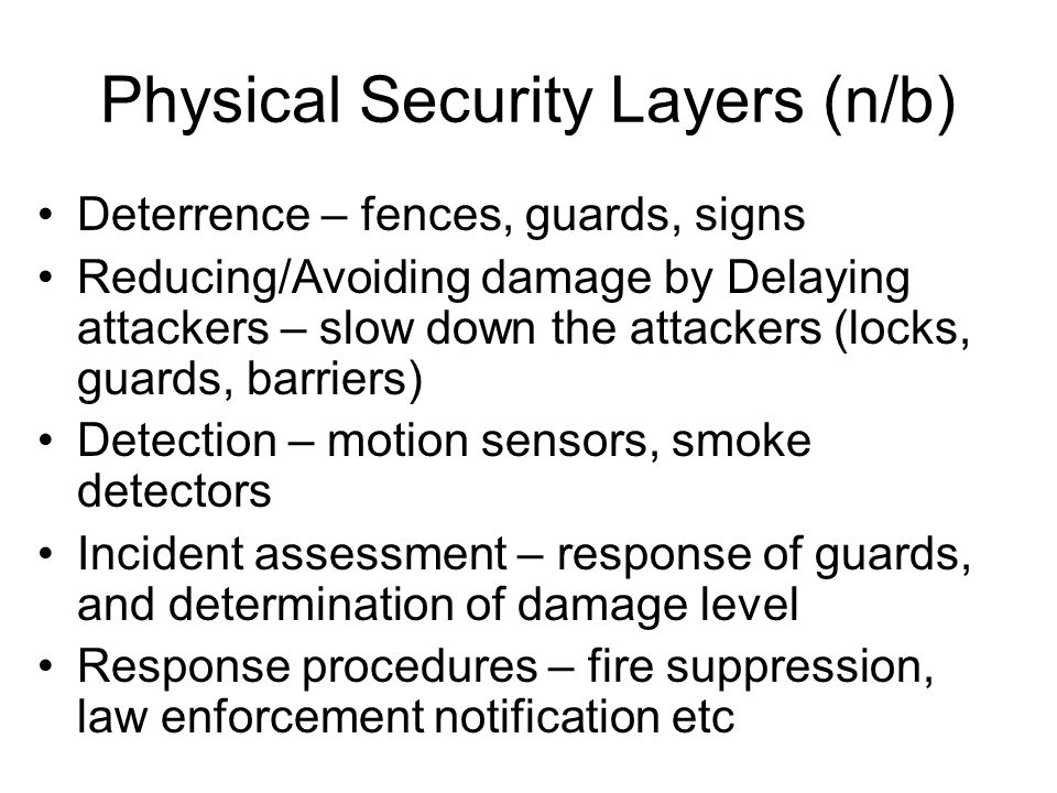 Physical Security Layers (n/b)