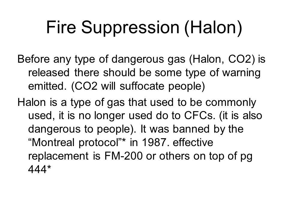 Fire Suppression (Halon)