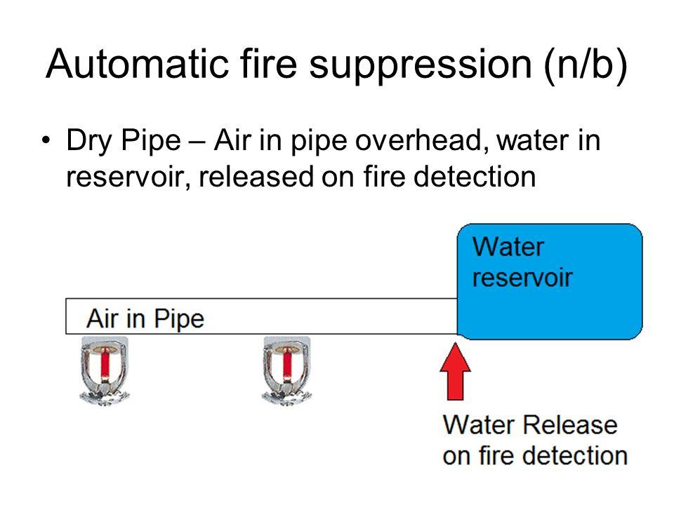 Automatic fire suppression (n/b)