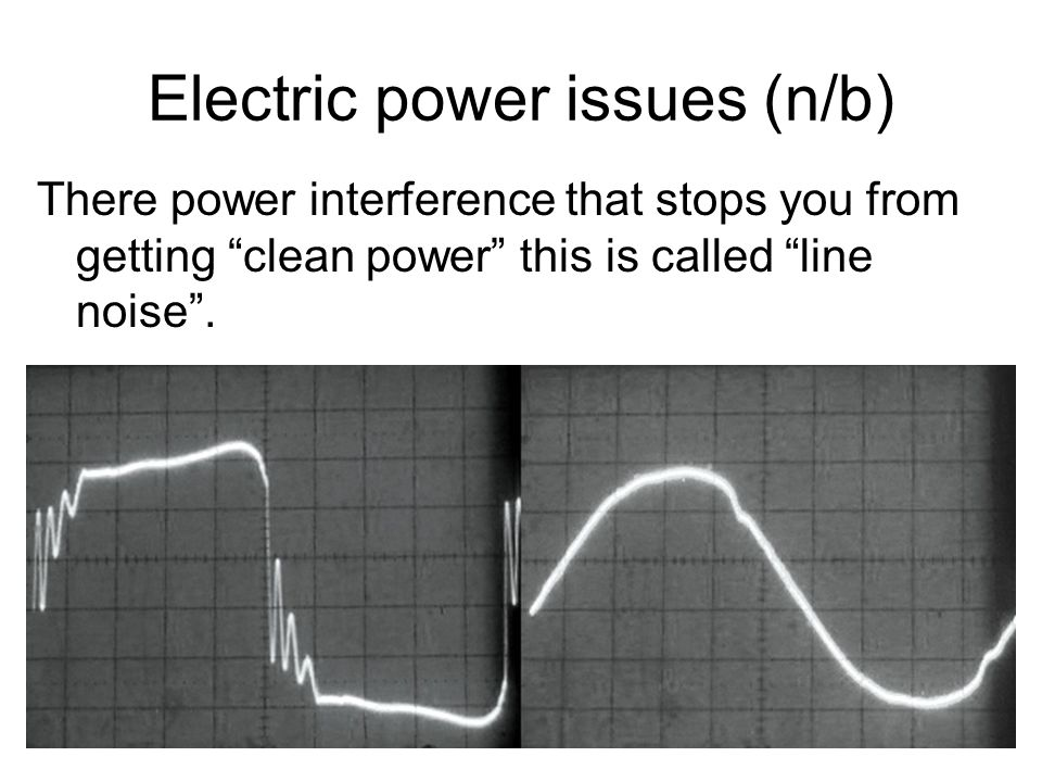 Electric power issues (n/b)