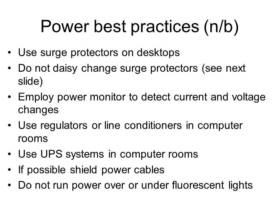 Power best practices (n/b)