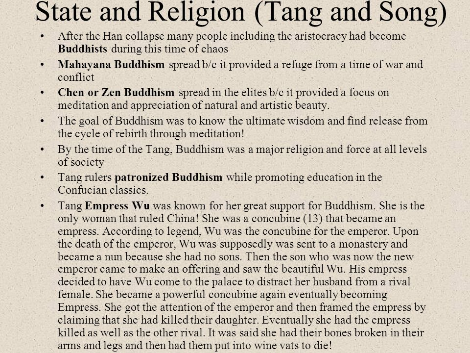 State and Religion (Tang and Song)