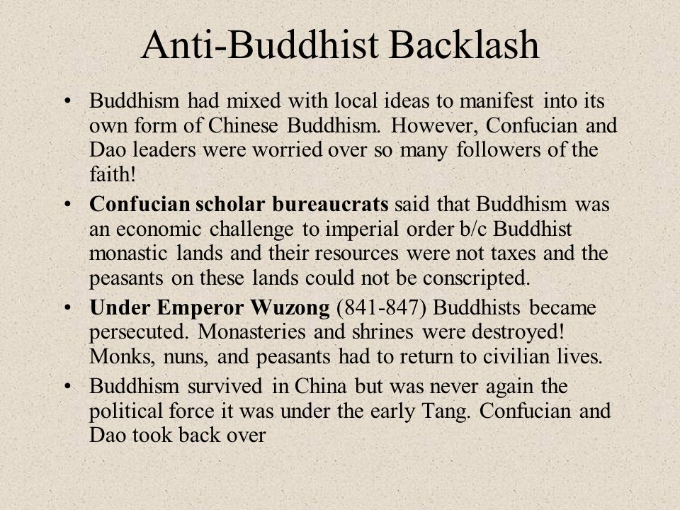 Anti-Buddhist Backlash