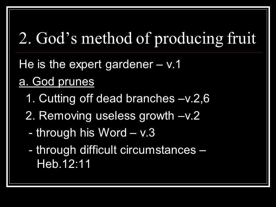 2. God's method of producing fruit