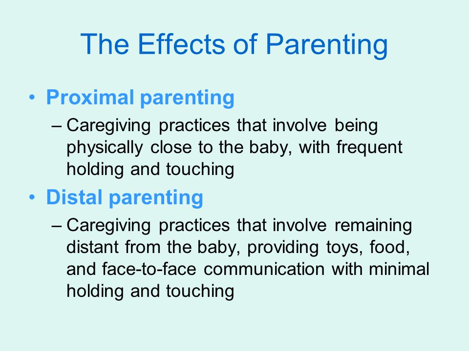 The Effects of Parenting